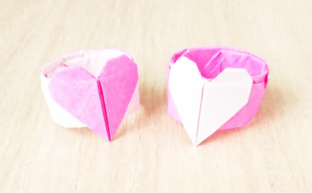 折り紙 ハート 折り紙で立体的なハートの作り方|簡単な折り方画像あり