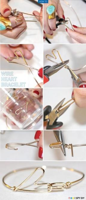 出典:DIY Tutorial DIY Wire Bracelet / DIY H\u2026