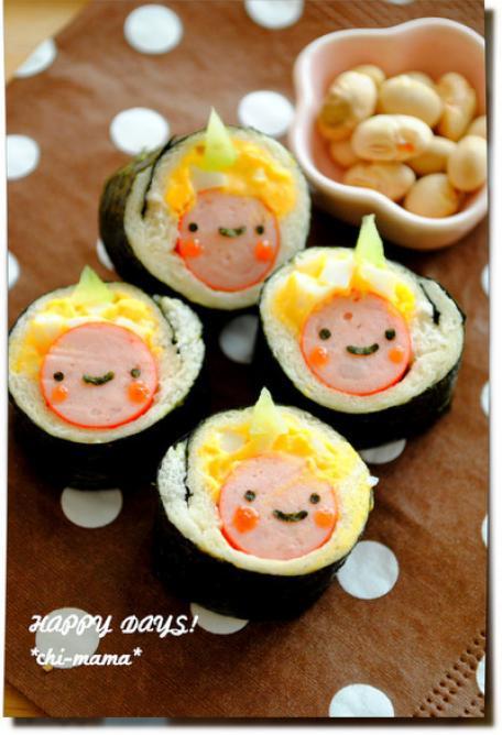 出典  節分☆海苔巻きパンで鬼さん♪(キャラ弁、デコ弁)|HAPPY DAYS!