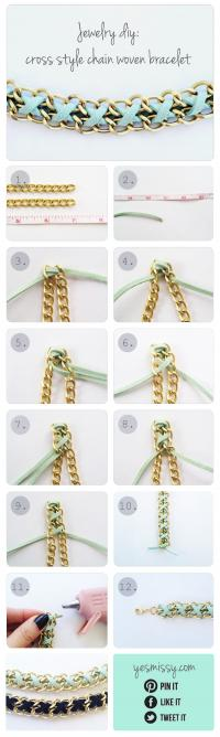 出典:DIY Bracelet Cross Style Chain Woven Br\u2026