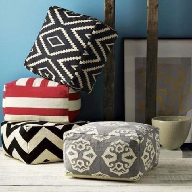 ソファや床周りを彩るならモロッコ風クッションのプフがかわいい! Weboo ウィーブー 自分でつくる。