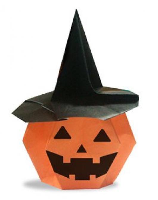 すべての折り紙 かぼちゃの折り紙 : ... 折り紙グッズとデコアイデア集