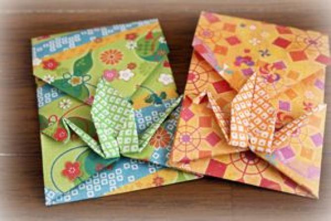 すべての折り紙 折り紙お年玉袋折り方 : お年玉のぽち袋は折り紙で ...
