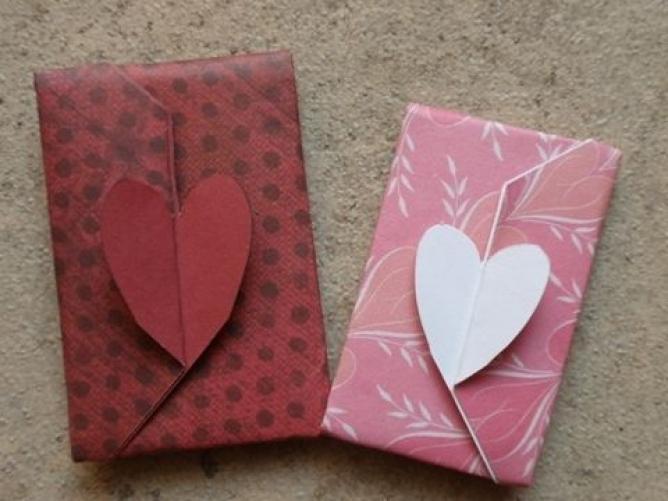 ハート 折り紙 ハート 折り紙 手紙 : お年玉のぽち袋は折り紙で ...