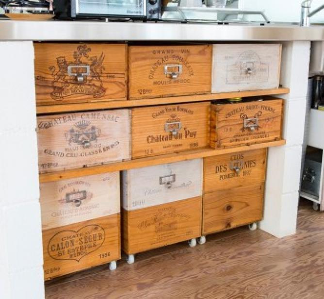 りんご木箱棚