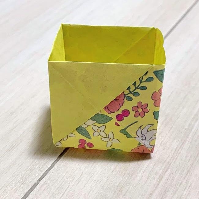 折り紙 箱 長方形