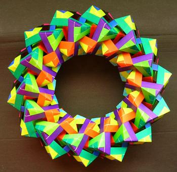 クリスマス 折り紙:ユニット折り紙多面体-weboo.link