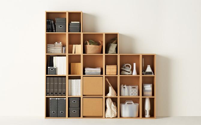 無印良品 本棚 子供部屋用収納棚の画像