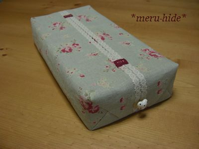 ティッシュ 作り方 ボックス カバー 【型紙不要】四角い布1枚を折りたたんで作る、マチつきボックスティッシュカバーの作り方